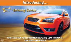 Members 1st Driving Sense Program and auto loan information