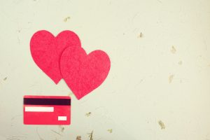 debit card and hearts